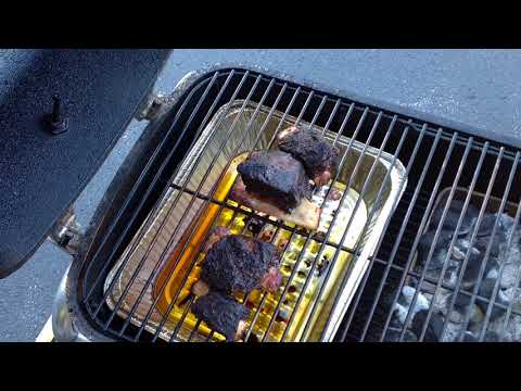Center Cut Beef Short Ribs On The PK Grill Indirect, Awesome