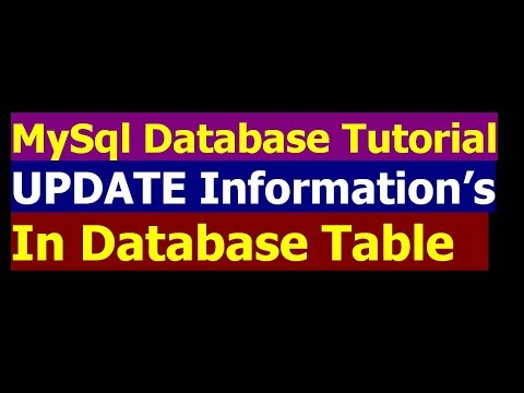 How To Update Data Into Table By Using SQL Query - MySql Database Bangla Tutorial Part 4