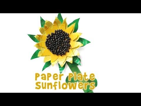 Cute Paper Plate Sunflower Kids Craft