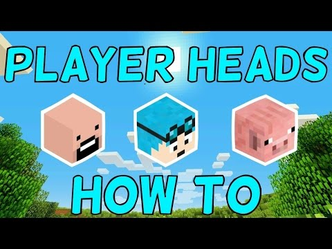 How To Get Minecraft Player Heads!  1.11.2+ (1 Command)