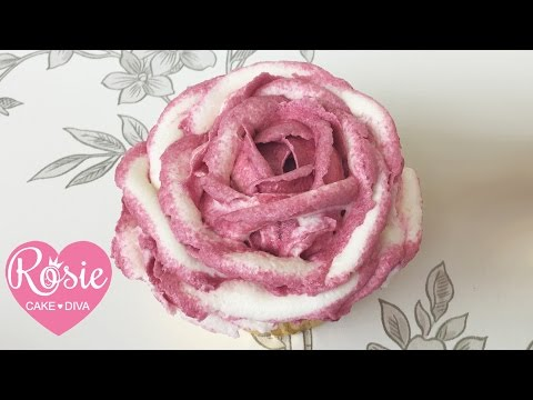 How to make a TWO TONE BUTTERCREAM RUFFLE ROSE