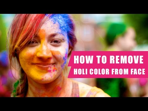How To Remove Holi Colours From Hair And Skin | home remedy,holi color remover, ace color remover |