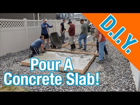 How To Pour a Concrete Slab For A Shed: How To Build A Shed ep 4