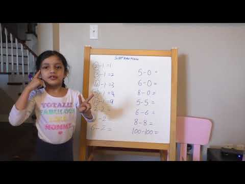 Subtraction tricks for kids, learn subtraction