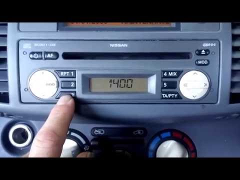 Nissan Micra - How to enter the radio code.