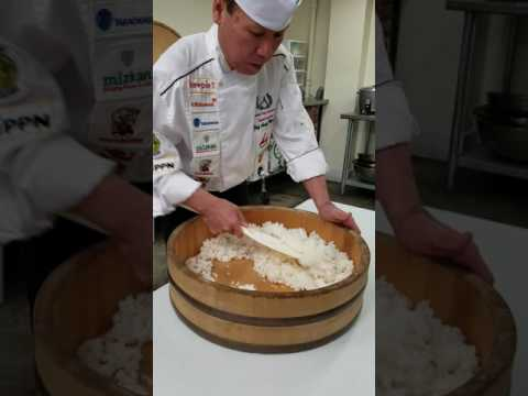 Mixing Sushi Rice with Andy Matsuda, Sushi Chef Institute