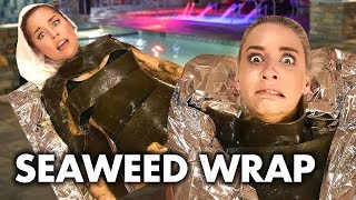 Getting Wrapped in Seaweed at a Korean Spa! (Beauty Trippin)