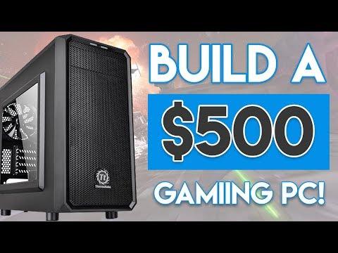 INSANE $500 GAMING PC BUILD 2018! [1080p Gaming @ 60FPS!]