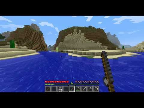Minecraft - How to Make a Fishing Pole and Fish