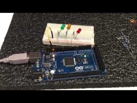 Stoplight Design using Arduino MEGA. My first