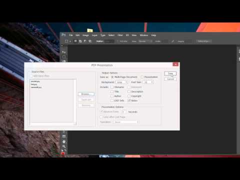 Create a Multi-page PDF Document with Photoshop