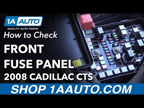 How to Remove Replace Front Fuses 2008 Cadillac CTS