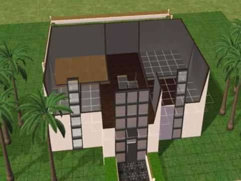 Sims 2 How to build a Modern house: #1