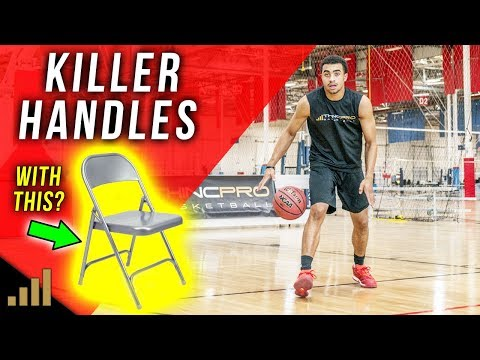 How to: Get Better Handles using a CHAIR!? (Pro Basketball Dribbling / Ball Handling Drills)