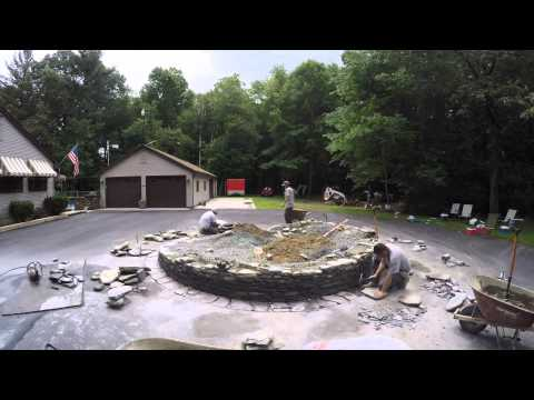 How We Install and Build a Goshen Stone Planter