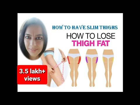 Remove fat from thighs : 5 minutes | Get slim thighs | Slim Legs | Subtitles