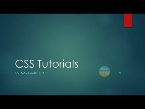 CSS Tutorials   Creating Horizontal Navigation Bars