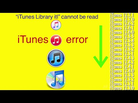 """The file """"iTunes Library itl"""" cannot be read"""