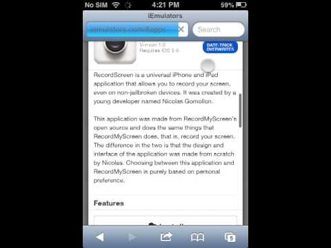 How to get a IOS 6 screen recorder (no jailbreak)