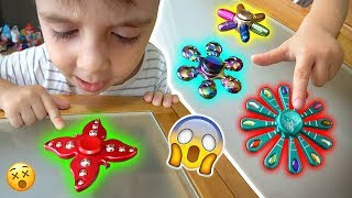 Download FIDGET SPINNERS RAROS E BARATOS!! 10 Handspinners Cool Cheap Best Rare Toys - Unboxing e Manobras Video