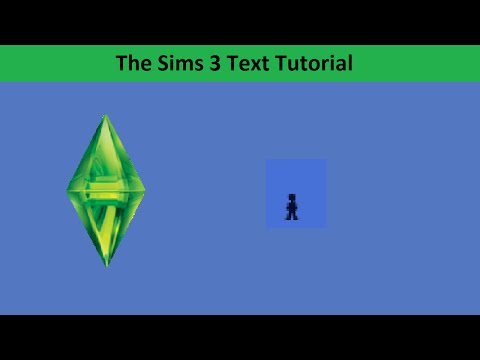 The Sims 3 Text Tutorial: Life stage: Toddler