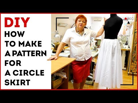 DIY: How to make a pattern for a circle skirt. Making a circle skirt in 15 minutes. Sewing tutorial.