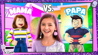 MAMA vs PAPA in Brookhaven Roblox Roleplay 💜 Alles Ava Gaming