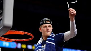 Donte DiVincenzo cuts down the net