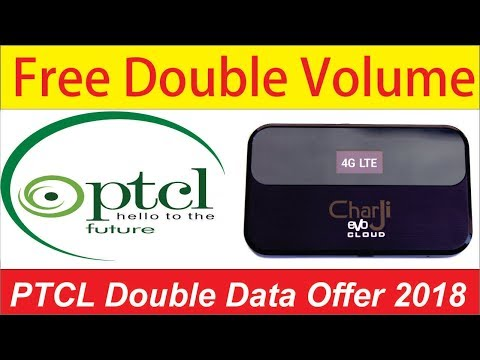 Get PTCL Double Volume On Charji 4G LTE Devices 2018