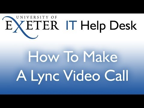 Making A Video Call In Lync 2010