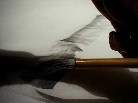 Bamboo painting: traditional brush painting - reversing bamboo