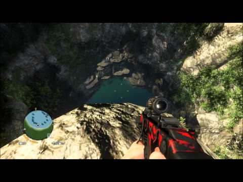 Diving in to a sinkhole on Far Cry 3