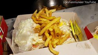 Club Sandwich Lasani Bun Kebab Street Food of Lahore