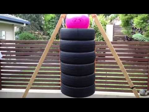How to Make a DIY Punching/Boxing Bag from Old Tires