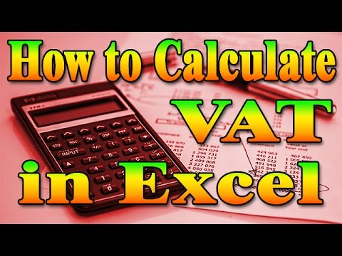 how to calculate vat in excel formulas