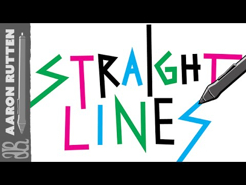 How to Draw STRAIGHT Lines with Digital Art Software