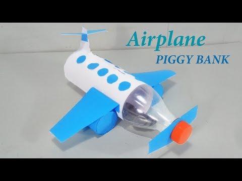 How To Make Airplane Piggy Bank  - DIY Kids Piggy Bank