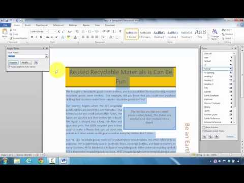 How to Create a New Styles Based on Formatted Text in Microsoft Word