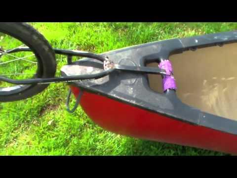 Homebuilt canoe dolly