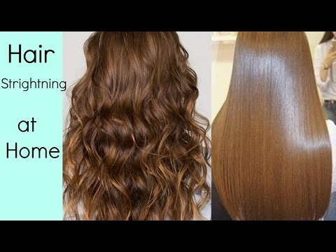 Hair Straightening at home, without Hair Straightener/heat (HINDI)