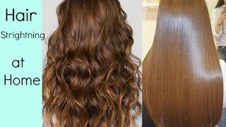 Hair Straightening at home, without Hair Straightener/heat (HINDI)