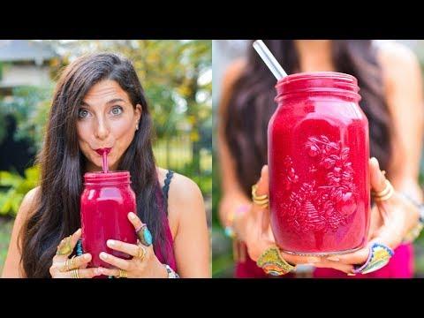 Antioxidant Powerhouse Berry Blast Detox Smoothie! FullyRaw Vegan!