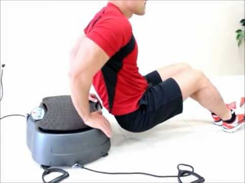 AcuVibes quick Whole Body Vibration workout on portable WBV machine