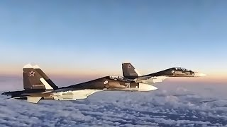 U.S. F-15 Eagles Intercept Russian SU-30 Flankers (2017)