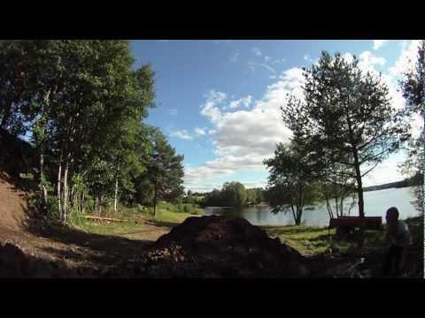 Yz 250 - Homemade backyard jump. GoProHD