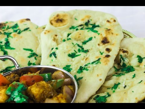Restaurant style Naan on gas/electric stove | Copycat recipe by crazy4veggie.com