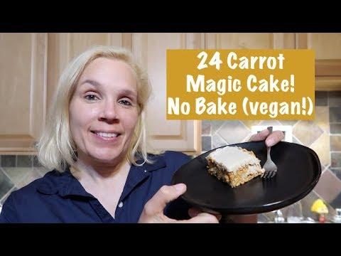 24 Carrot Magic Cake! No Bake (vegan!)
