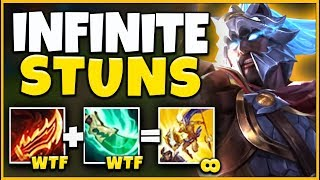 *I BROKE THE GAME* INFINITE STUNS + INVINCIBILTY (REWORKED PANTHEON) - League of Legends