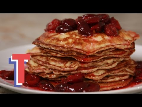 Spelt Buttermilk Pancakes With Cherry Compote | Yum in the Sun 3