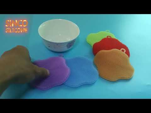 silicone dish washing brush / silicone washing sponge
